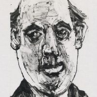 George Wallace - Businessman, 2002, monotype