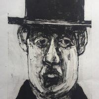 George Wallace - Doubtful Pastor, 2002, monotype