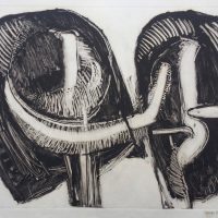 George Wallace - Joined Forms I, 1988, monotype
