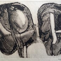 George Wallace - Joined Forms III, 1988, monotype