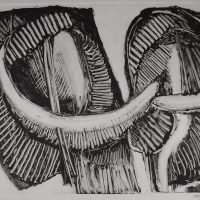 George Wallace - Joined Forms IV, 1988, monotype