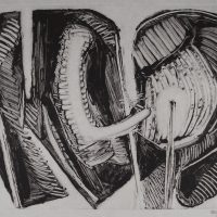 George Wallace - Joined Forms V, 1988, monotype