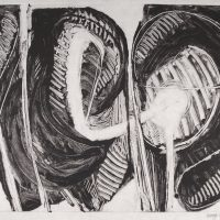 George Wallace - Joined Forms VI, 1988, monotype