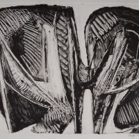 George Wallace - Joined Forms VII, 1988, monotype