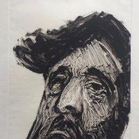George Wallace - Bearded Man II, 1988, monotype