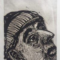 George Wallace - Man Looking Up, 1988, monotype