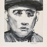George WallaceMan in a Cap, 1955, monotype