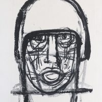 George Wallace - Man in a Helmet, 1956, monotype