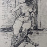 George Wallace - Model, 1947, graphite