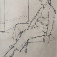 George Wallace - Model, 1948, pencil