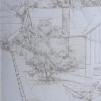 George Wallace - Old Barn at Governors Road, Dundas, c.1964, silverpoint