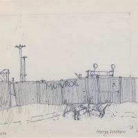 George Wallace - Preparatory drawing for print #60, Munro, 1972, pencil