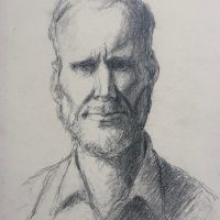 George Wallace - Portrait of Peter Redpath, c.1990, pencil