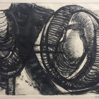 George Wallace- Pit Workings, ink and wash