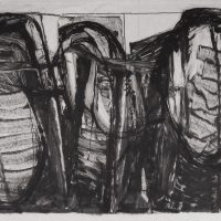 George Wallace - Pit Workings, 1988, monotype
