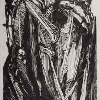 George Wallace - Pit Workings, monotype
