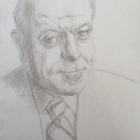 George Wallace - Portrait of a Man, pencil