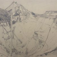 George Wallace - St. Austell Claypit, 1955, pencil
