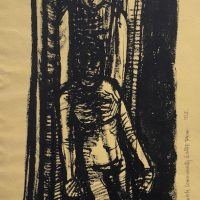 George Wallace - Study for Holocaust Memorial sculpture, 1965, ink
