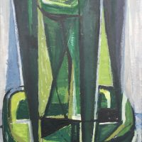 George Wallace - The Green Cliff, 1957, oil painting on canvas