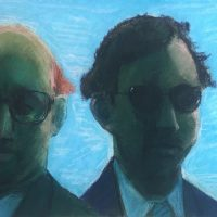 George Wallace - Two Businessmen, 1990, pastel