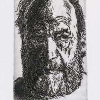 George Wallace - Self Portrait - etching - 1992