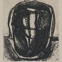 George Wallace - Shadowed Pit - etching - 1992