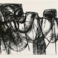 George Wallace - Clay Pit Face - drypoint - 1990