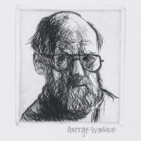 George Wallace - Self Portrait - drypoint 1992