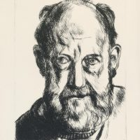 George Wallace - Self Portrait (the Levy Bequest Face) - drypoint - 1993