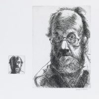 George Wallace - Pair of Self Portraits - etching, 2nd state - 1993