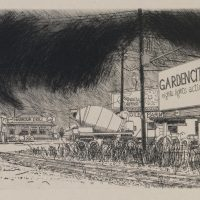 George Wallace - Garden City - Summer Squall - etching - 1994