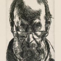 George Wallace - Self Portrait - etching - 1994