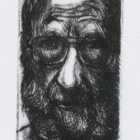 George Wallace - Self Portrait - drypoint - 1994