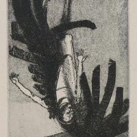 George Wallace - The Fall of Icarus - etching and aquatint - 1995