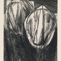George Wallace - Interlocking Pits - etching 1997