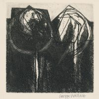 George Wallace - Shadowed Pits - etching 1997