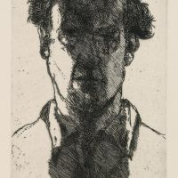 George Wallace - Young Man - etching 1997