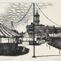 George Wallace - The Fun Fair at Dun Laoghaire - etching