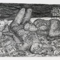 George Wallace - Golden Jerusalem Securities - etching