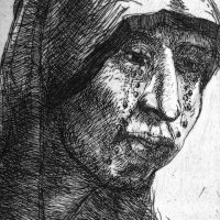 George Wallace - Weeping Woman - etching