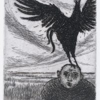 George Wallace - Peter and the Cock - etching - 1965
