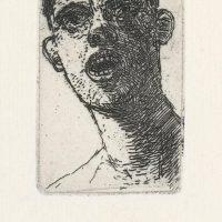 George Wallace - Shouting Man - etching - 1966
