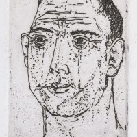 George Wallace - Man's Head - etching 1966