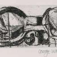 George Wallace - Joined Forms - etching & sandpaper aquatint - 1967