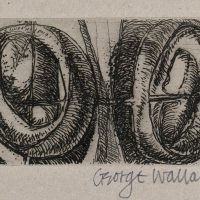 George Wallace - Twin Forms - etching - 1972