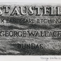 George Wallace - St. Austell Title Page - hardground etching - 1972