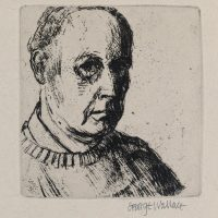George Wallace - Self Portrait - softground etching - 1972