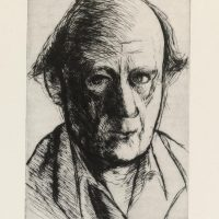 George Wallace - Self Portrait - drypoint - 1973