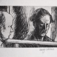 George Wallace - Gemini Self Portrait - drypoint - 1973